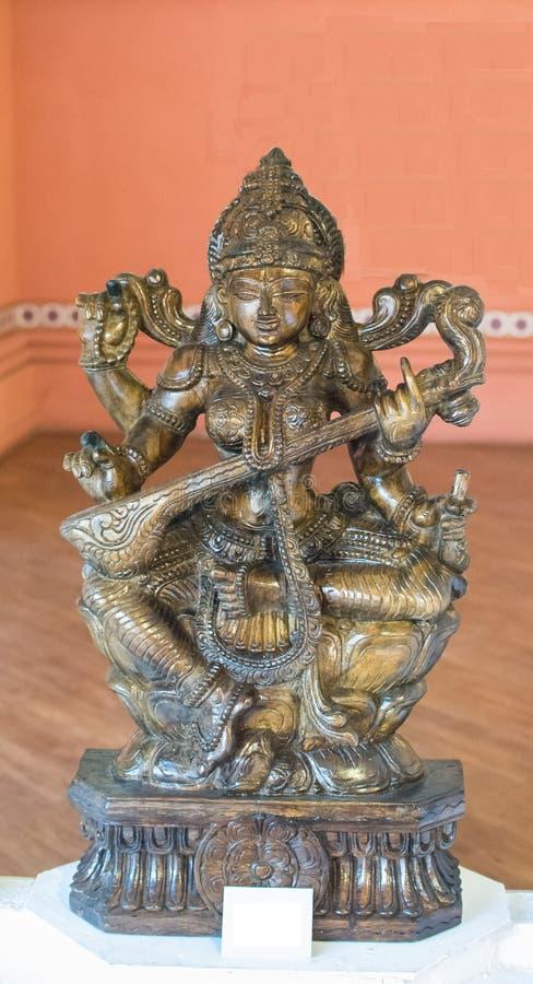 Devi Saraswati Goddess av kunskapsvishet arkivbild