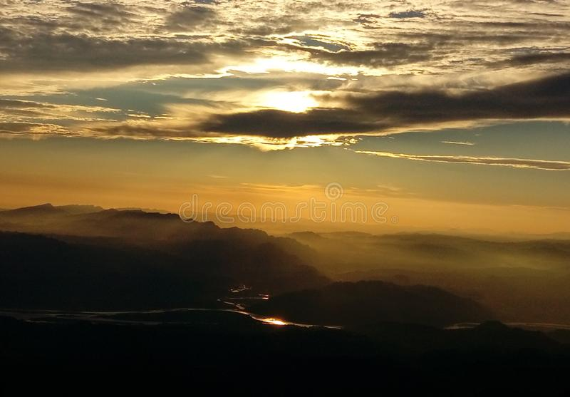 Devi vashno ηλιοβασιλέματος στοκ φωτογραφία με δικαίωμα ελεύθερης χρήσης