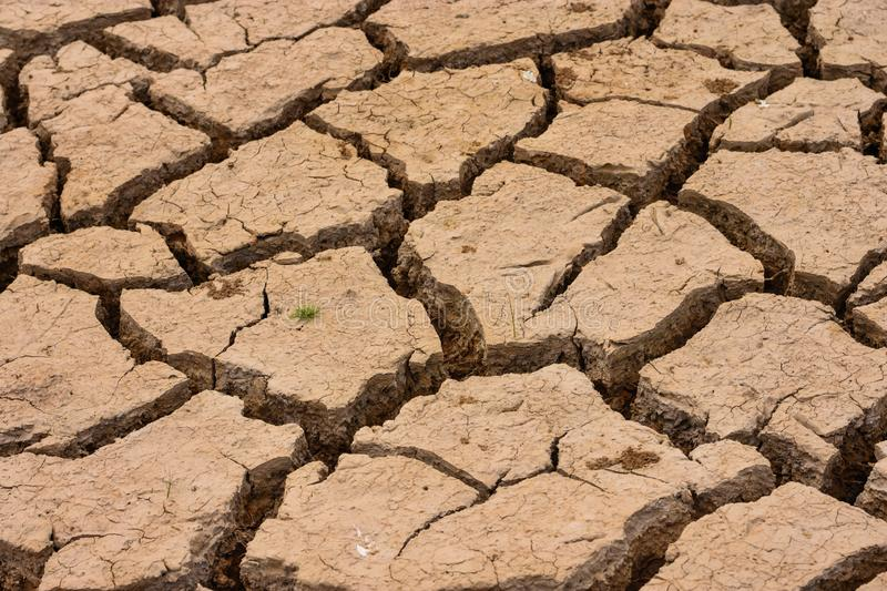 Deviation of the dry season until the land cracked. Greenhouse effect caused by atmospheric changes. Because destroying the human environment. Cause global stock photo