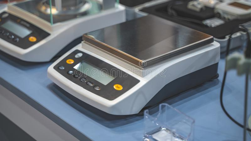 Device In Experiment Science Laboratory. For Advance Research And Educational Use stock photo