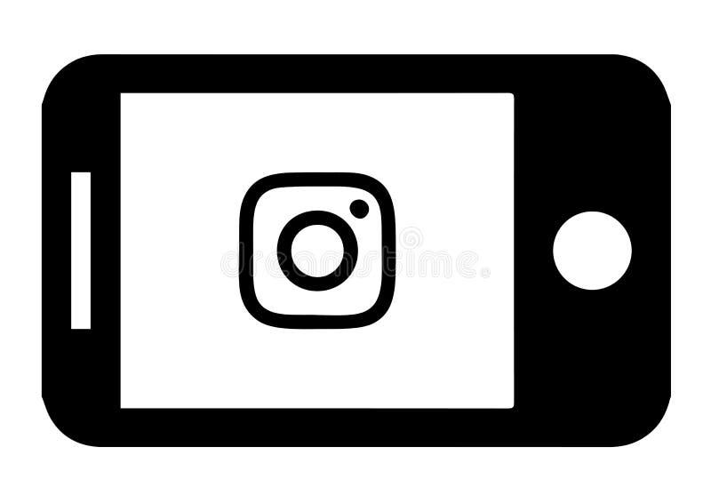 Device Instagram Icon Design. Audio, graphic. stock illustration