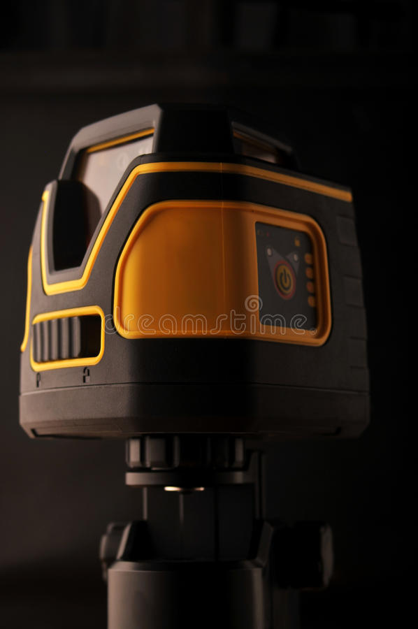Device laser level stock photo