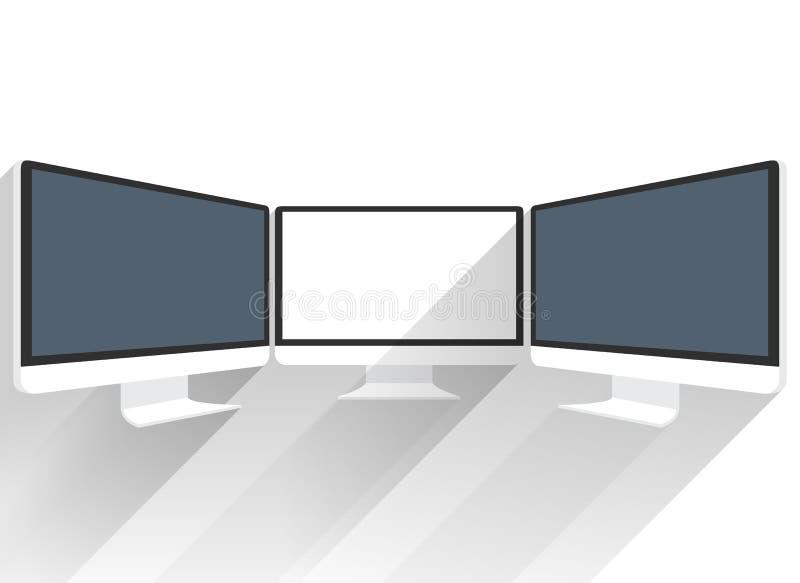 Device Mockups. Computer Monitor vector illustration