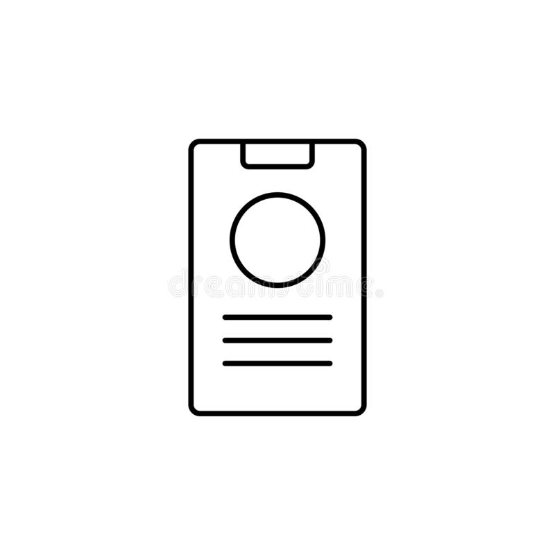 device, smartphone icon. Simple outline vector of Web Design Development  set icons for UI and UX, website or mobile application royalty free illustration