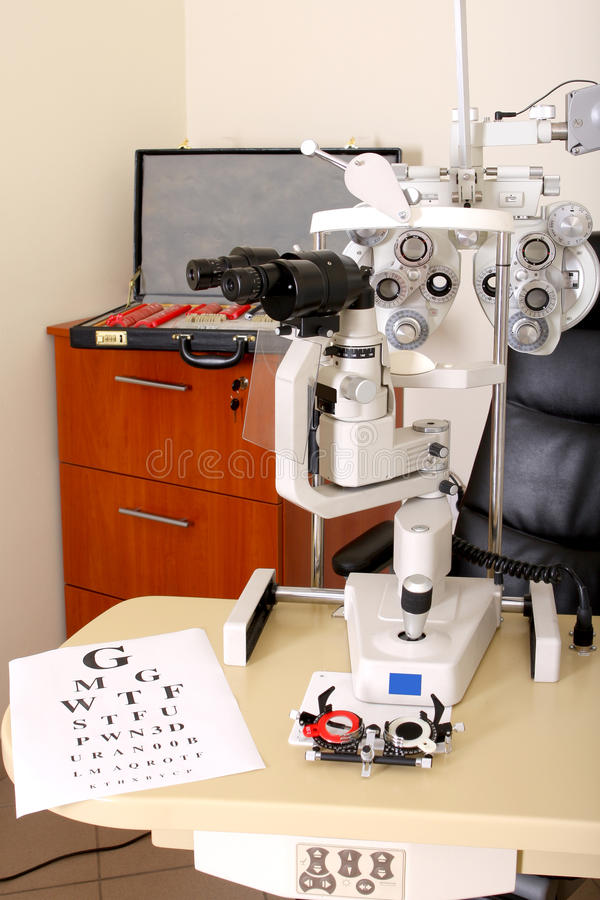 Device To The Sight Testing Stock Image