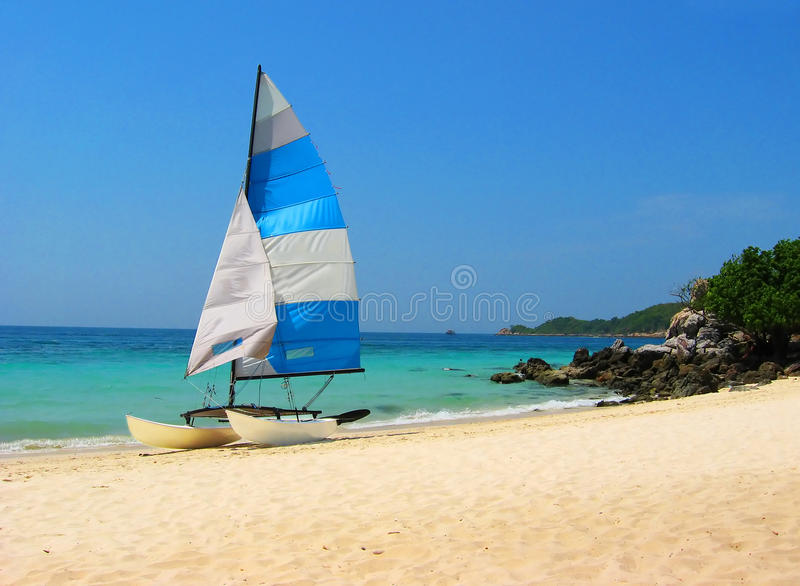 Device for windsurfing on the shore in Koh Larn stock photos