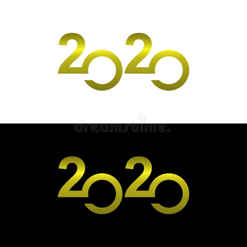 Design 2020 logo vector gold color royalty free stock photos
