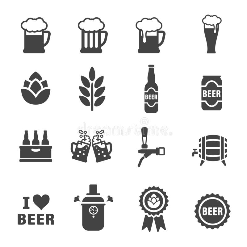 Beer icon set. Vector and illustration vector illustration