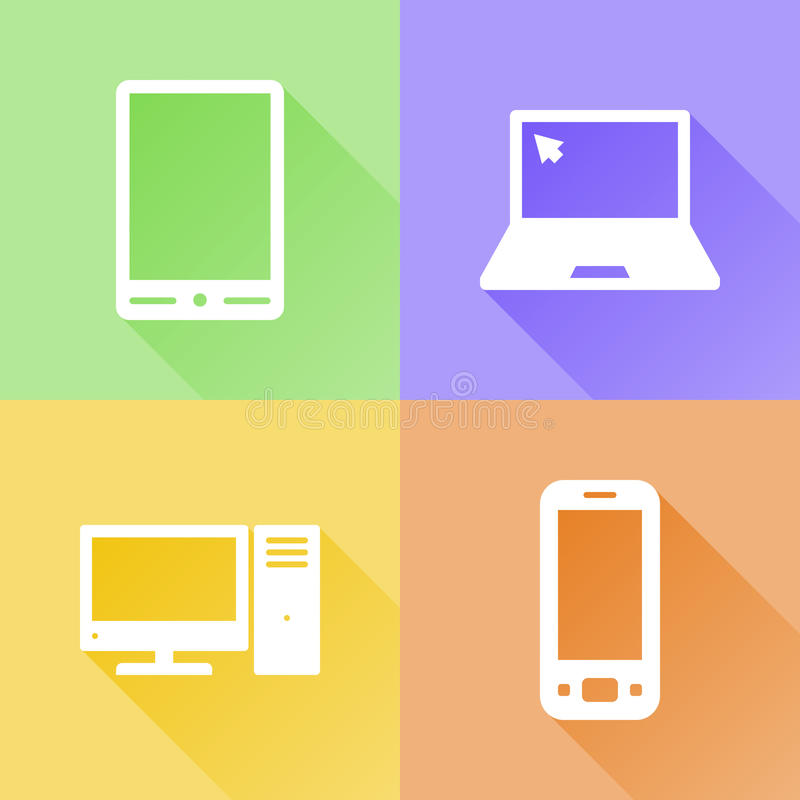 Devices colorful flat icons