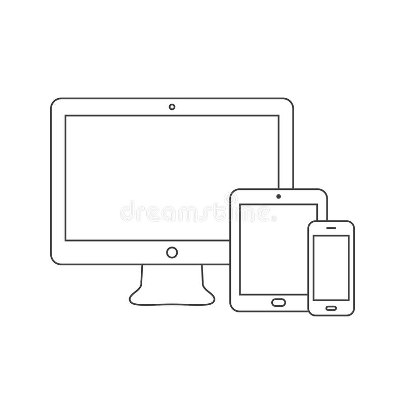 Devices icon stock illustration