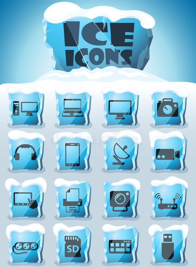 Devices icon set vector illustration