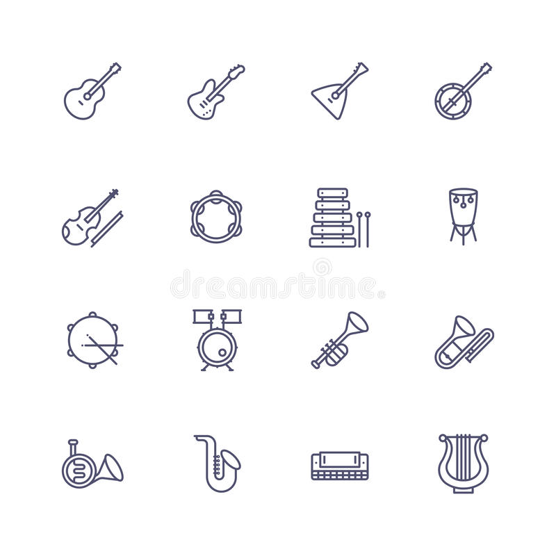 Devices icons. Line icons with dot and line pattern vector illustration