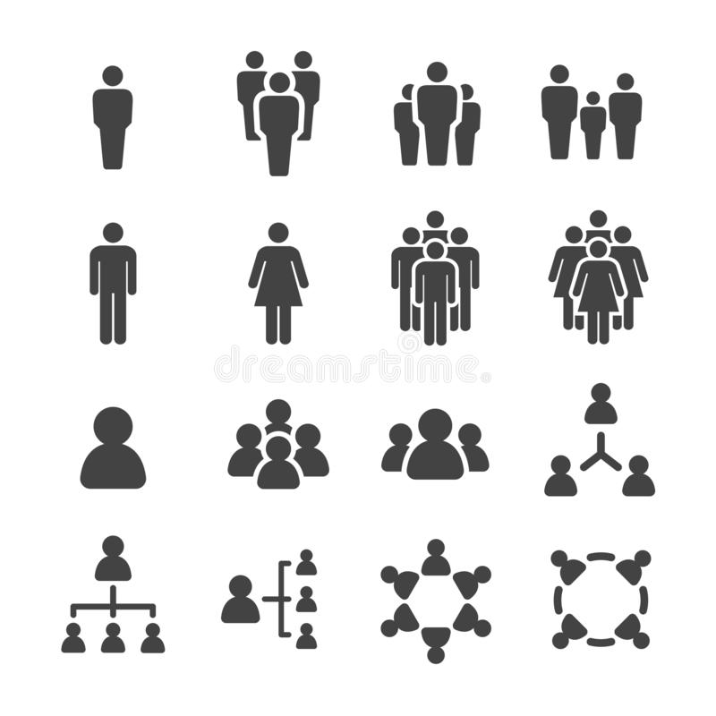 People and population icon set. Vector and illustration stock illustration
