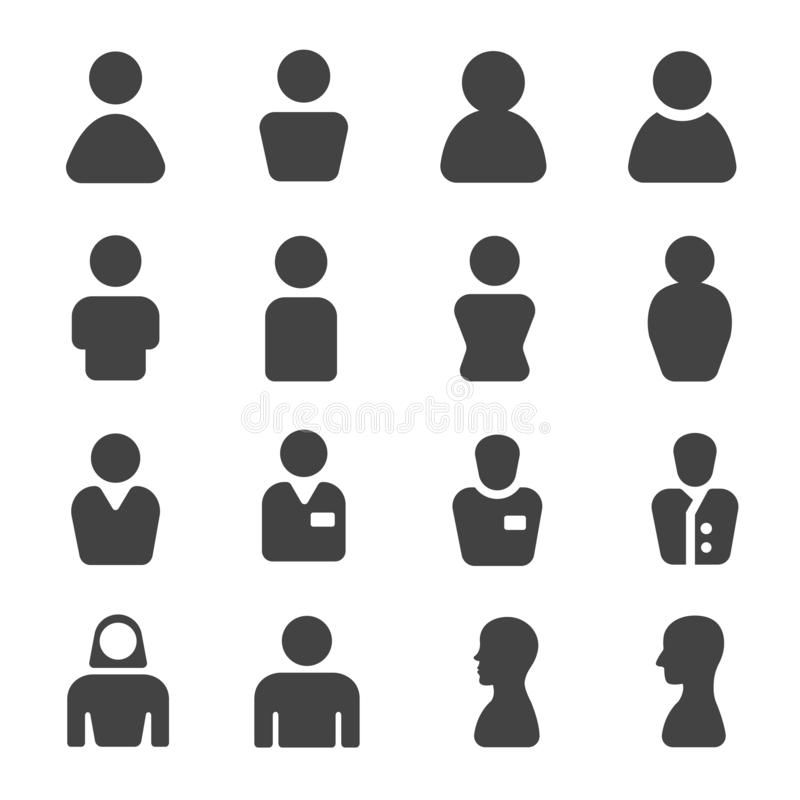 Person icon set. Person,user,people icon set,vector and illustration vector illustration