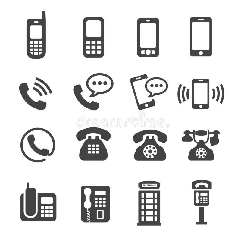 Phone icon set. Phone,telephone icon set,vector and illustration vector illustration