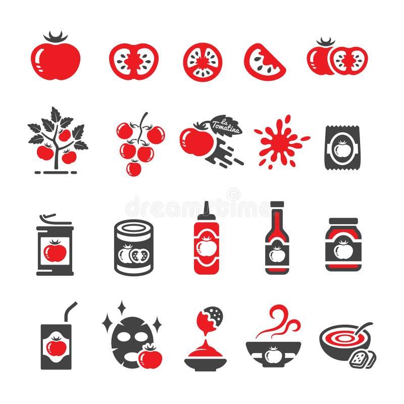 Tomato icon set royalty free illustration