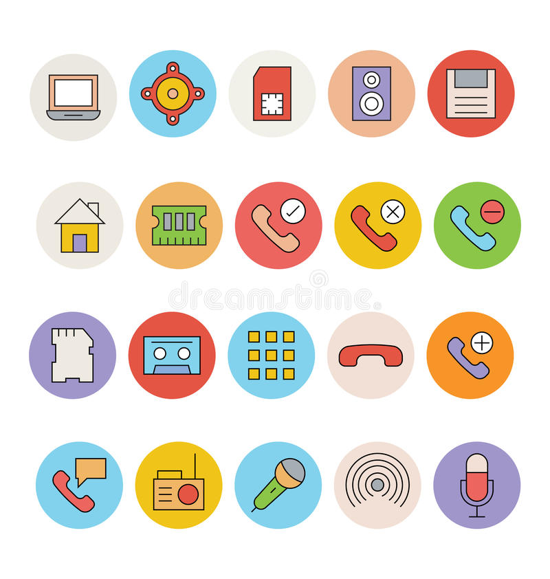 Devices Vector Icon 3 royalty free illustration