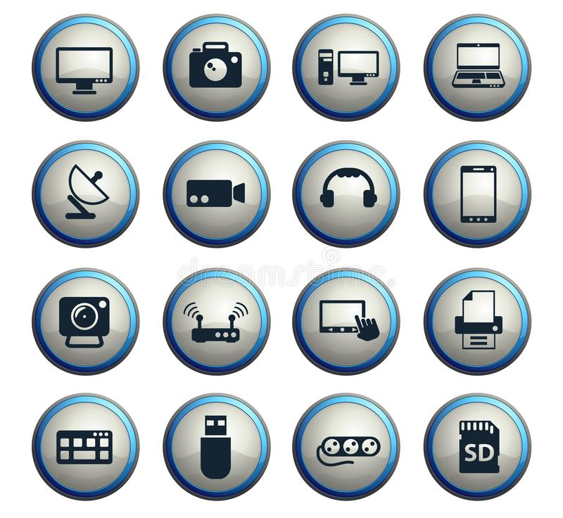 Devices icon set royalty free illustration