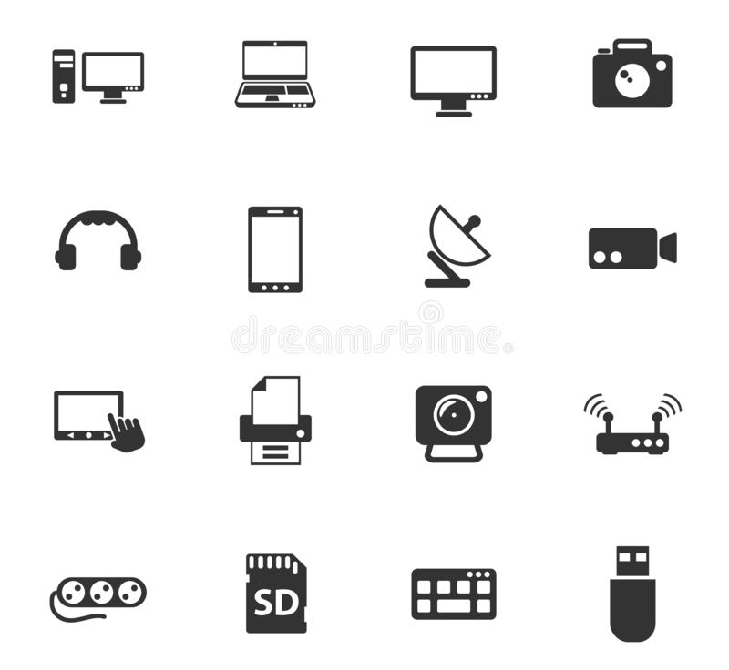 Devices icon set. Devices vector icons for web and user interface design vector illustration
