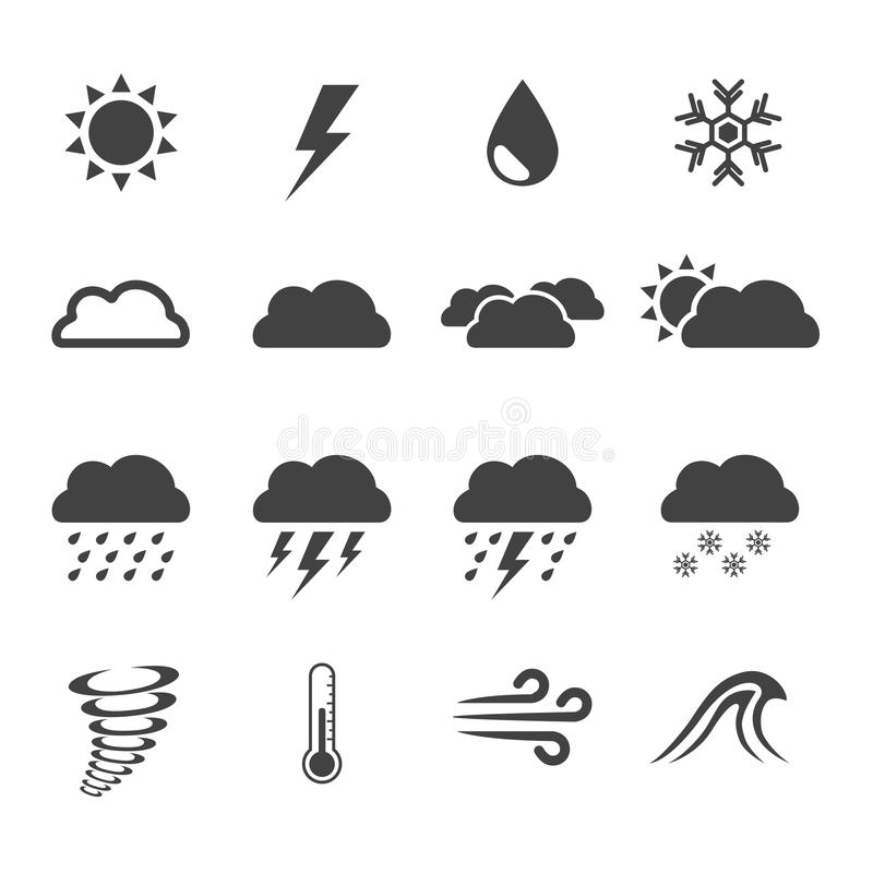 Weather icon set vector illustration