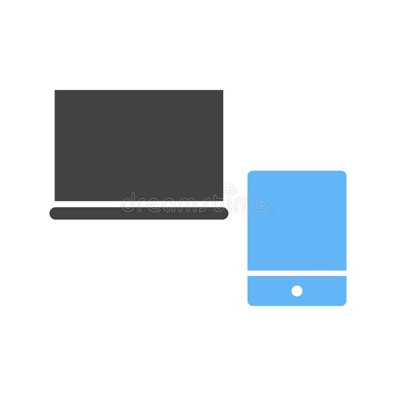 Devices. Web, devices, laptop icon vector image. Can also be used for web. Suitable for use on web apps, mobile apps and print media stock illustration