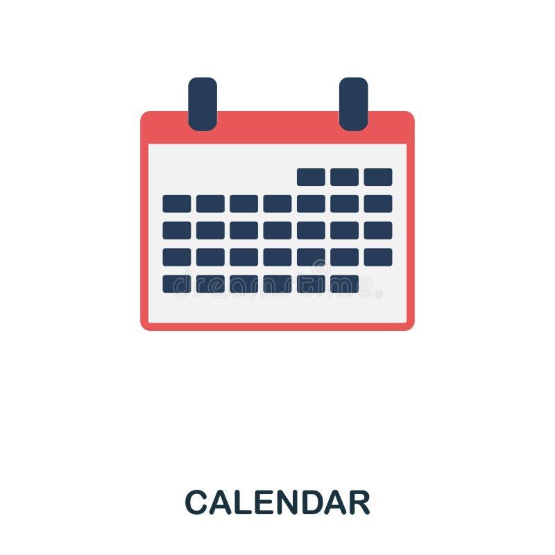 Calendar flat icon. Premium style flat icon design. UI. Illustration of calendar flat icon. Pictogram isolated on white. Ready to. DevicesCalendar flat icon stock illustration