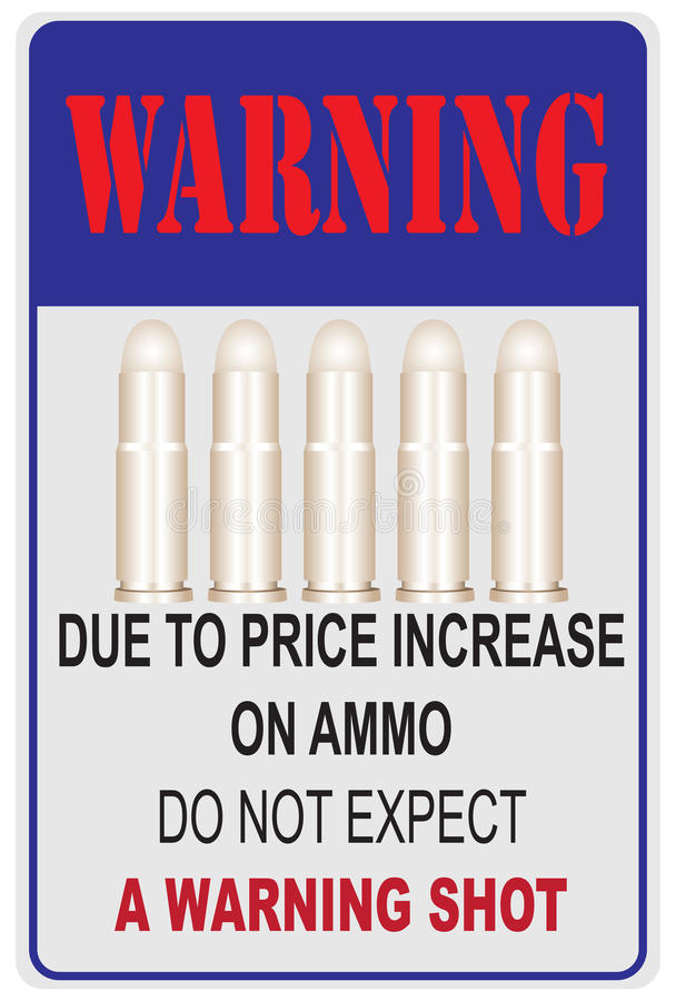 Devido ao aumento de preços na munição ilustração do vetor