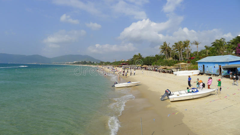 Baía de Yalong em sanya, hainan fotografia de stock royalty free