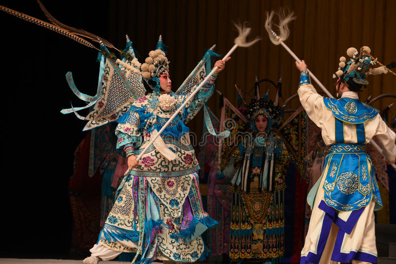 """Deviennent les généraux de femmes de Pékin Opera"""" d'avant-garde du  de € de Yang Familyâ image stock"""