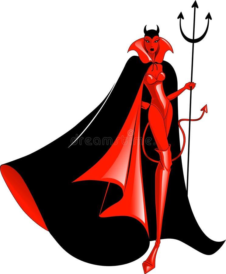 Download She-devil stock vector. Image of black, flame, devil - 11146331