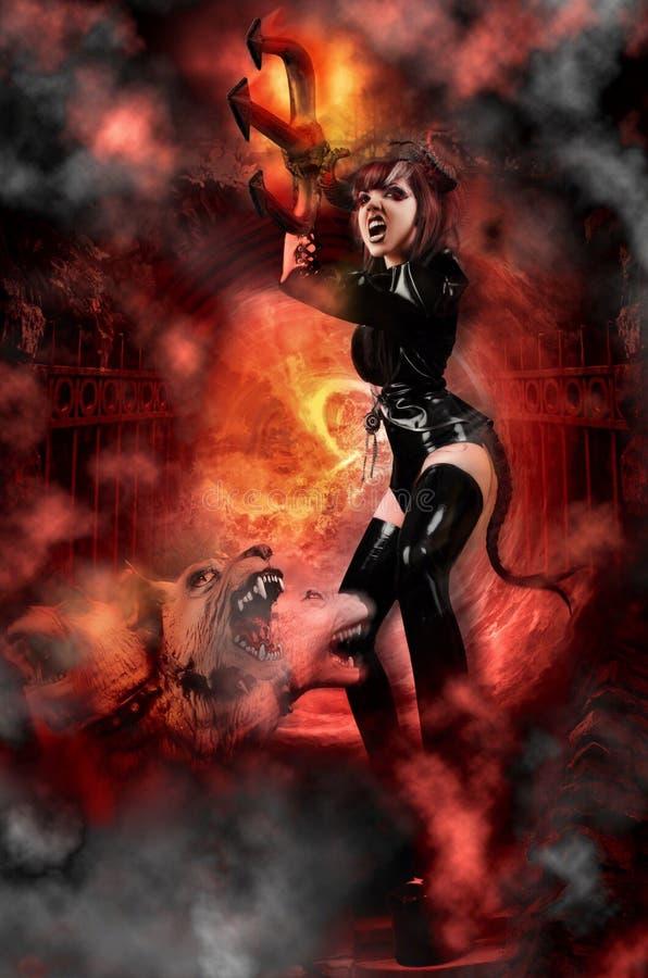 She Devil royalty free stock photo