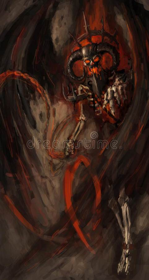 Download Devil stock illustration. Image of bonfire, demonic, painting - 23330753