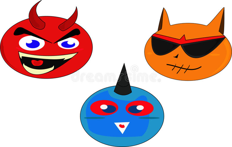 Download Devil stock vector. Image of doll, monster, devil, cute - 25340137