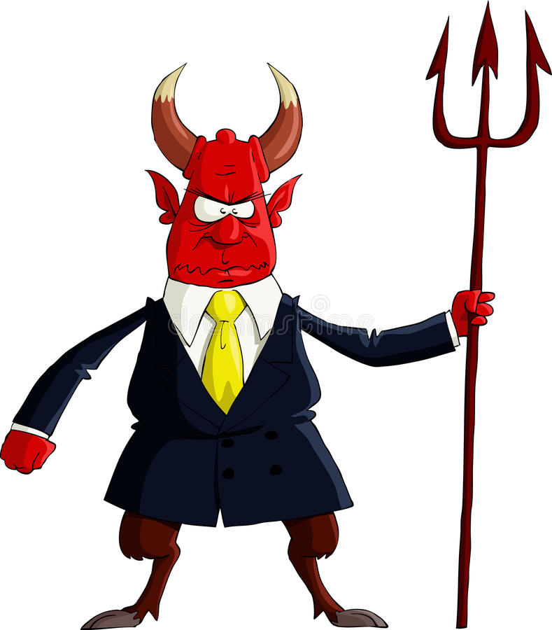 Devil boss royalty free illustration