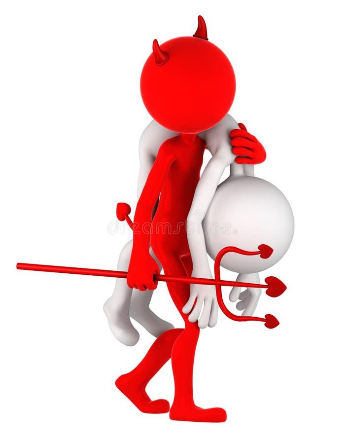 Download Devil Carrying Businessman On Shoulder Stock Illustration - Image: 21772786