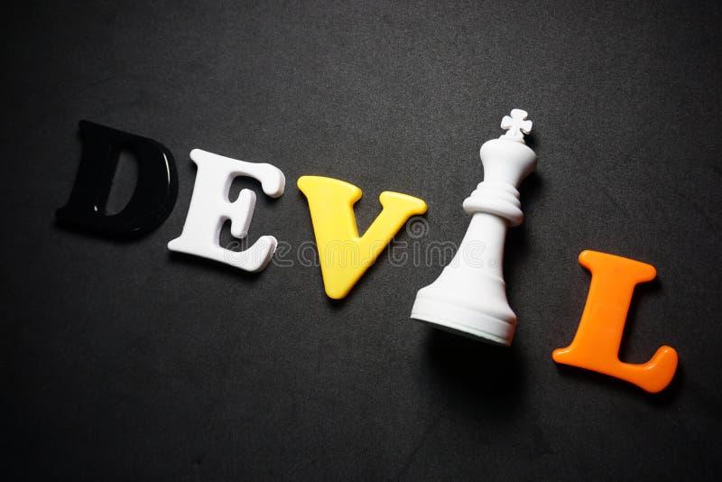 Devil Chess fotos de stock royalty free
