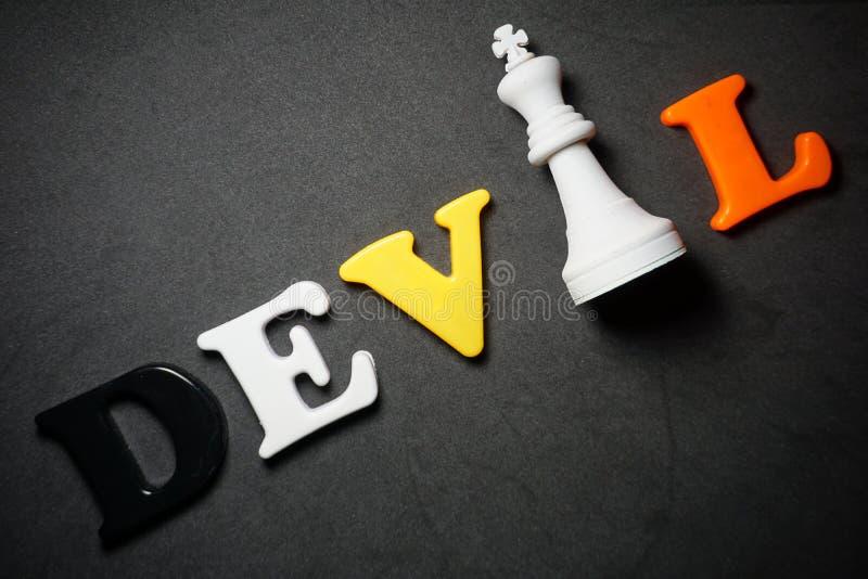 Devil Chess foto de stock