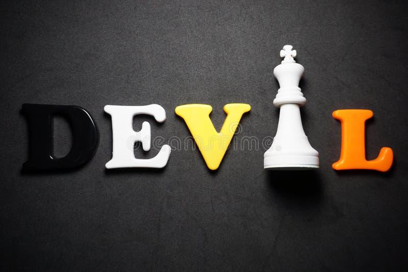 Devil Chess imagem de stock royalty free