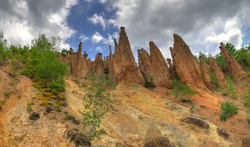 Devil' cidade de s/Djavolja Varosh/, Sérvia - fenômeno natural, panorama fotografia de stock royalty free