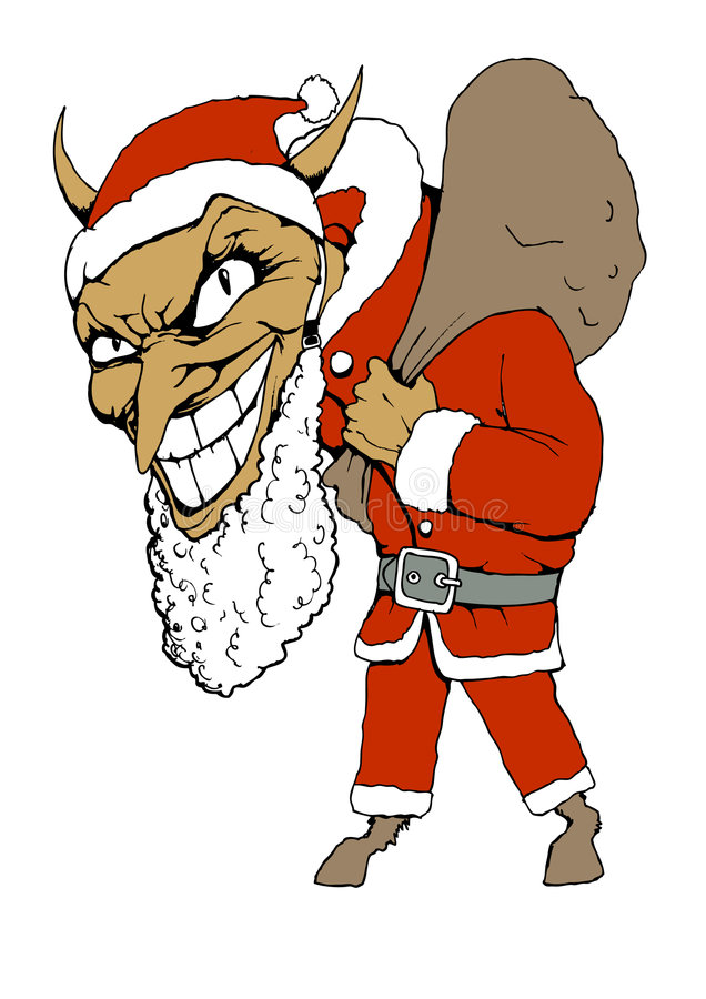 Devil claus royalty free stock photos