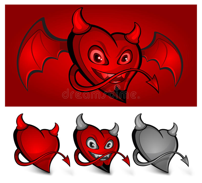 Devil Face Heart Royalty Free Stock Image