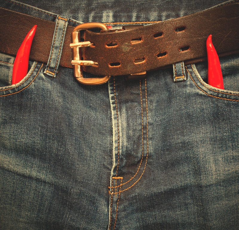 Devil fashion jeans royalty free stock photography