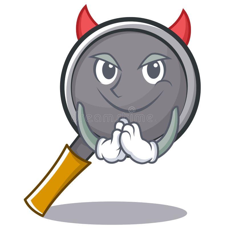 Devil frying pan cartoon character. Vector illustration vector illustration