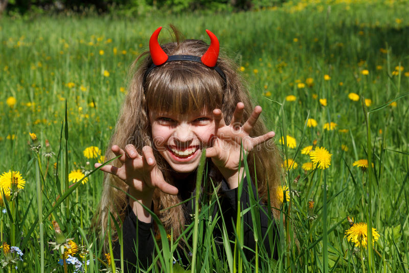 Devil Girl Stock Photography
