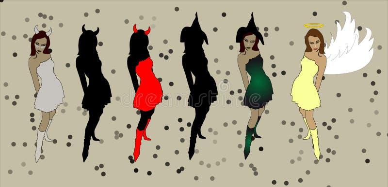 Devil Girl stock image
