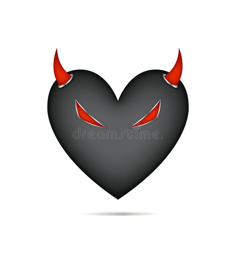 Download Devil Heart stock vector. Image of valentine, hate, tendency - 12695485