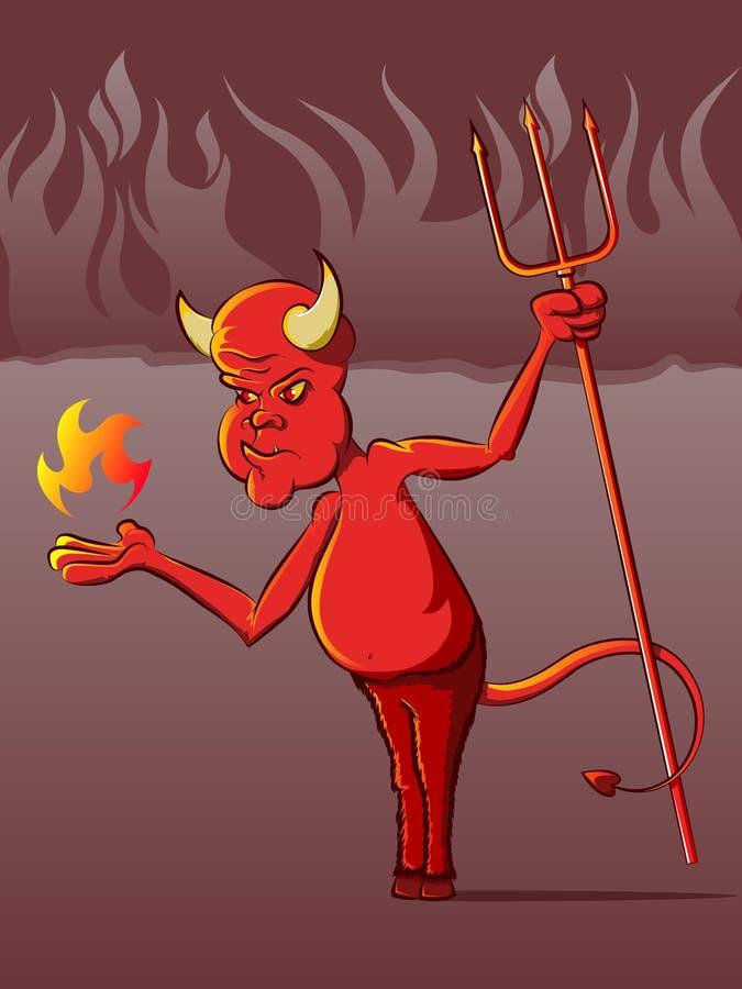 Download Devil in Hell Cartoon stock vector. Image of halloween - 30862708