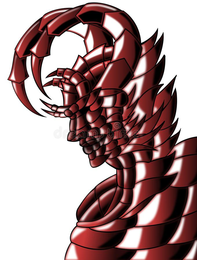 Isolated red devil vector illustration