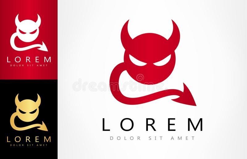 Devil logo vector. Logo design vector illustration royalty free illustration