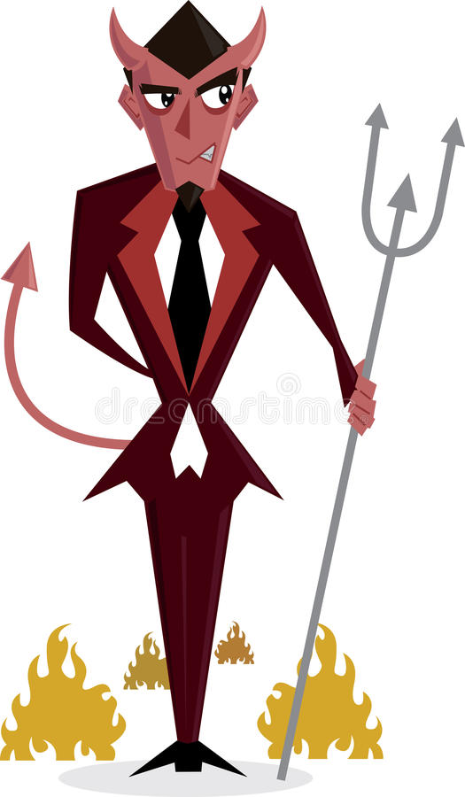 Devil Man halloween character illustration stock photos